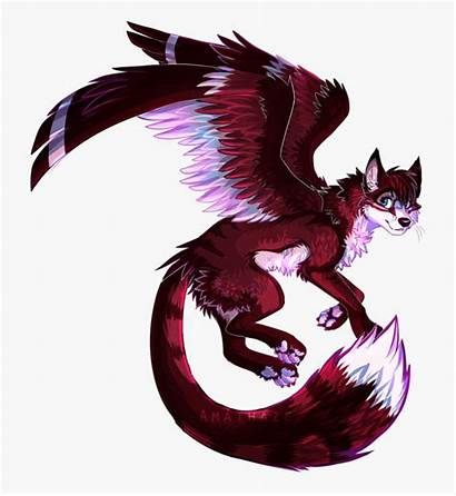 Wolf Wings Winged Drawing Drawn Clipart Cartoon