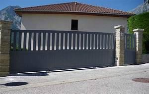 Portail Coulissant Automatique : portail automatique coulissant portail alu 3m maison infos ~ Premium-room.com Idées de Décoration