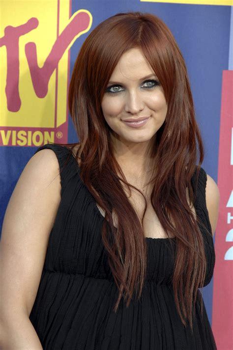 auburn hair colors celebrities  red brown hair
