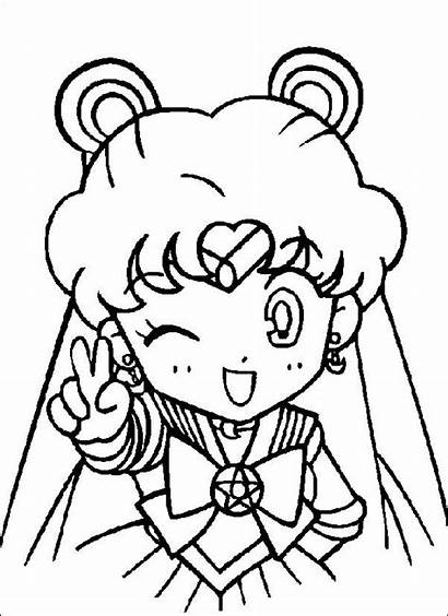 Coloring Pages Moon Sailor