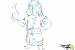 How to Draw Clash Of Clans Wizard - DrawingNow