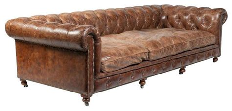 sold out restoration hardware leather library sofa