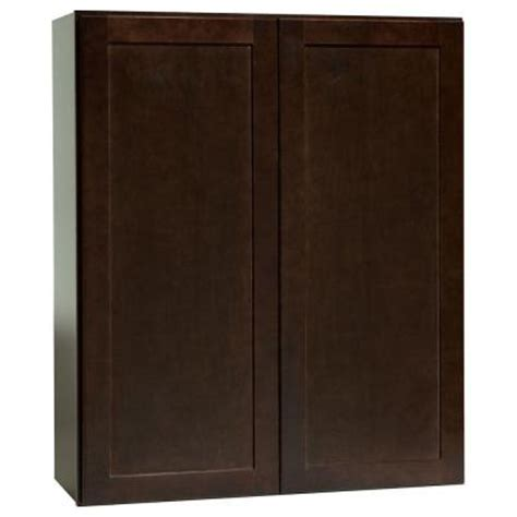 hton bay assembled 30x36x12 in shaker wall cabinet in
