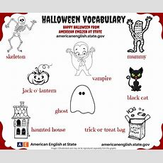 Halloween Vocabulary  English Language, Esl, Efl, Learn English, Vocabulary And Grammar