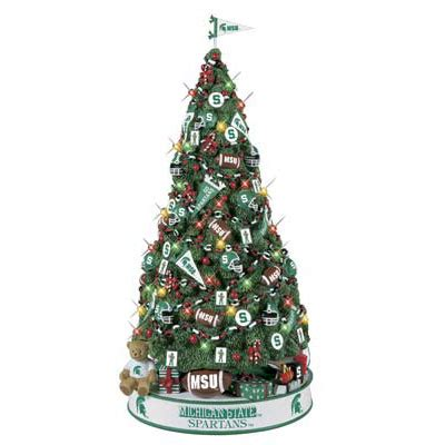 michigan state spartans christmas tree the danbury mint