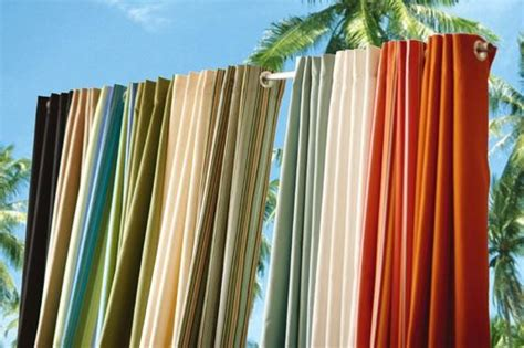 outdoor curtain panels made of sunbrella 174 all weather uv