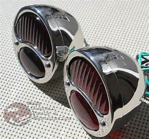 Ford Model A Stainless Steel Taillights Lamps Pair Brake