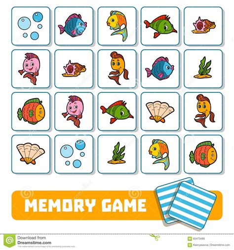 Memory Game For Children, Cards With Farm Animals Vector Illustration  Cartoondealercom #85474660
