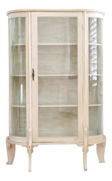 white curio cabinet vintage white curio display cabinet chairish