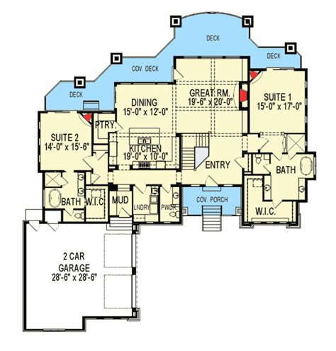 craftsman house plan   master suites iy architectural designs house plans