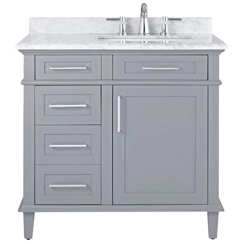 Bathroom Vanities The Home Depot Home Decorators Collection Sonoma 36 In W X 22 In D Bath