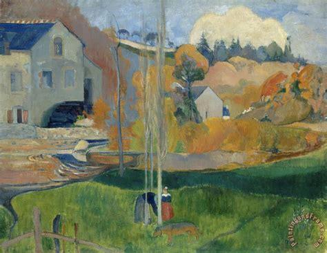 paul gauguin paysage de bretagne le moulin david painting
