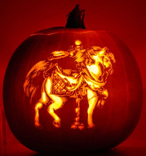 Pumpkin Masters Carving Templates by Carousel Horse 2 A Carousel Horse Carved Into A Pumpkin