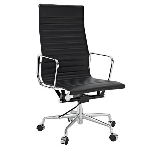 lexmod ribbed high back office chair in white