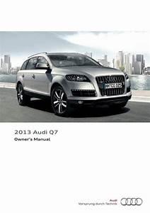 2013 Audi Q7  U2013 Owner U0026 39 S Manual  U2013 348 Pages  U2013 Pdf