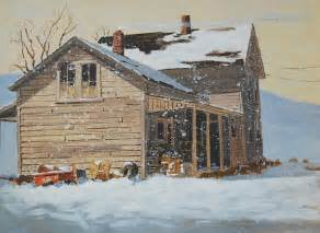 Art Painting Old Farm Houses