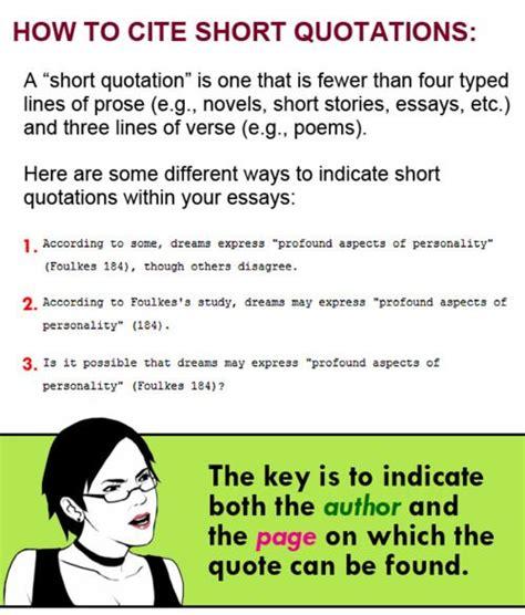 cite short quotations  follow link