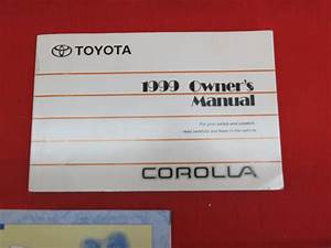 1999 Toyota Corolla Owners Manual Guide Book