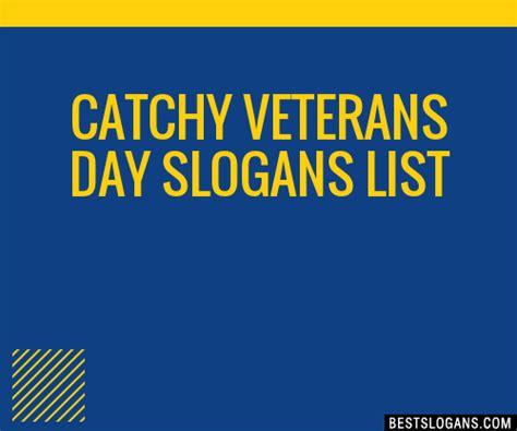 veterans slogans catchy names phrases