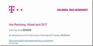Www Telekom De Rechnung Kundencenter : trojaner ihre telekom festnetz rechnung mimikama ~ Themetempest.com Abrechnung