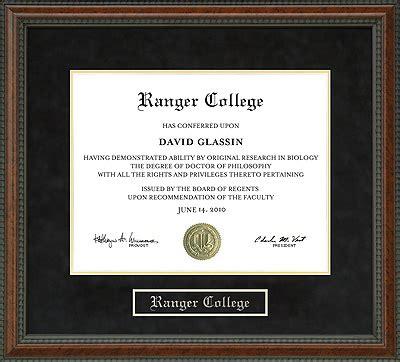 ranger college diploma frame wordyisms