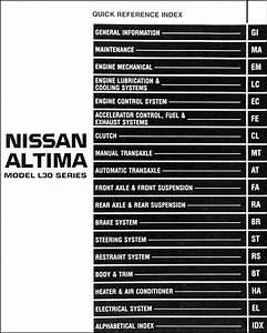 1998 Nissan Altima Repair Shop Manual Original