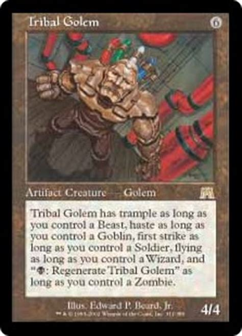 Mtg Golem Tribal Deck the changeling of the guard daily mtg magic the gathering
