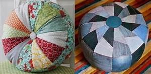 Gros Pouf Rond : faire des poufs avec des chutes de tissu ~ Teatrodelosmanantiales.com Idées de Décoration