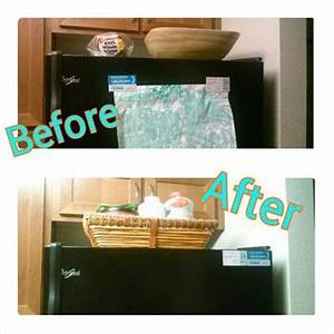 How To Declutter Refrigerator Front & Top