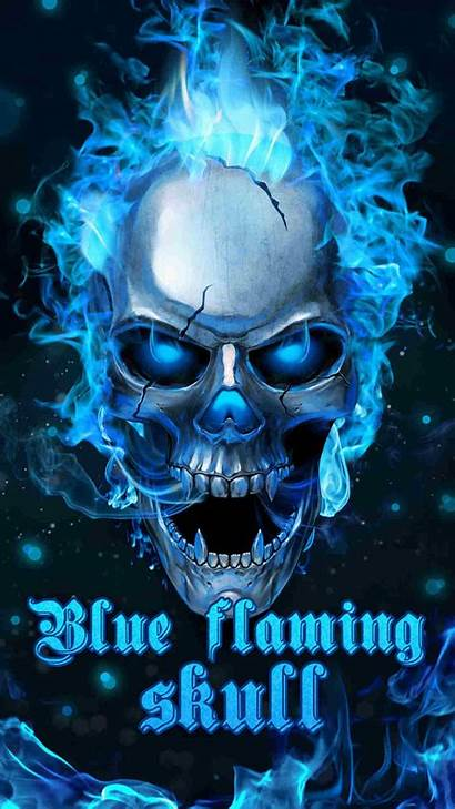 Skull Flaming Fire Skulls Android Wallpapers Phone