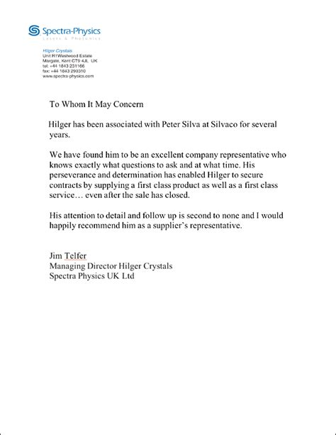 sles of letters of recommendation letter of recommendation sales letter of recommendation 9761