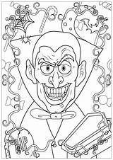 Halloween Coloring Colorare Disegni Vampire Colorear Coloriage Adulti Adults Coloriages Adultos Adult Dessin Vampires Events Haunted Enfants Immagini Dents Raccolta sketch template