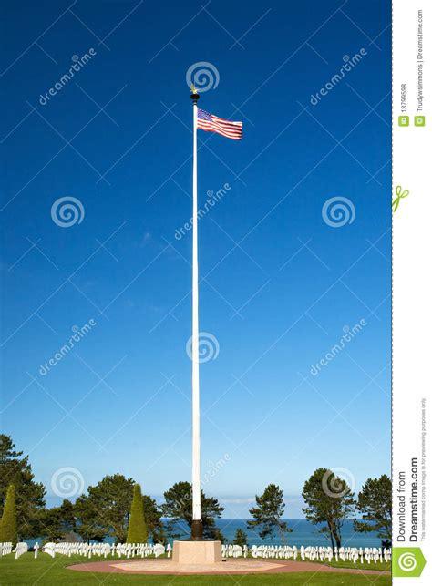 american wwii cemetery  flag  omaha beach royalty