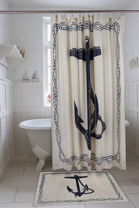Coastal Shower Curtain by Nautical Anchor Shower Curtain Coastal Style Gifts