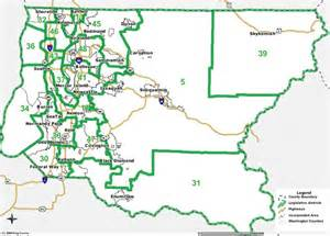 King County Legislative District Map