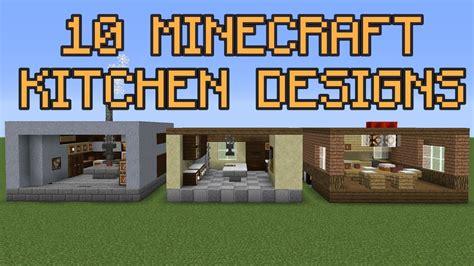 minecraft kitchen designs youtube