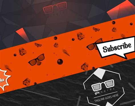 youtube banner template psd  psd files youtube
