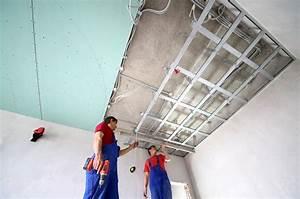 Pose D Un Faux Plafond En Ba13 : faux plafond placo pl tre prix moyen devis et ~ Melissatoandfro.com Idées de Décoration
