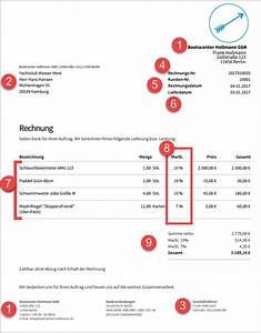 Rechnung Fußzeile : rechnung schreiben die 10 pflichtangaben ~ Themetempest.com Abrechnung