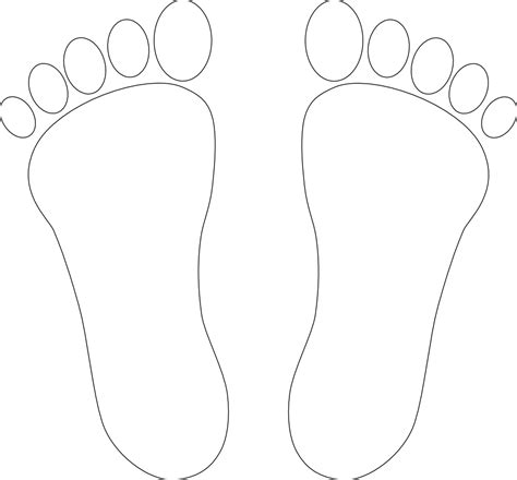 foot print clipart black  white   cliparts