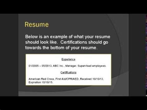 What Certifications Should I Include On My Resume by Cpr Aid Certifications You Need On Your Resume