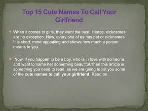 Top 15 Cute Names To Call Your Girlfriend - YouTube