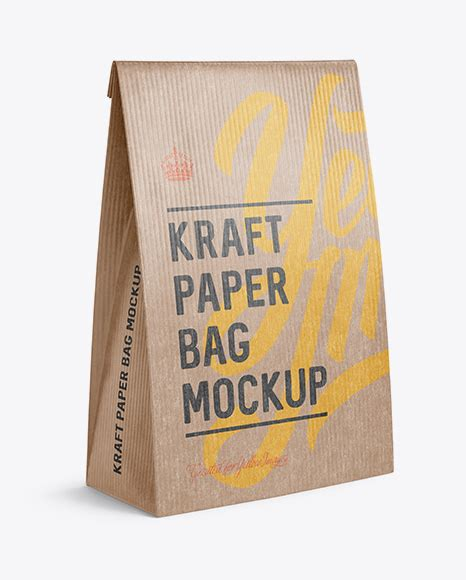 It makes you want to pick up the product and buy it no matter what it is. Kraft Paper Bag Mockup - Halfside View in Bag & Sack ...