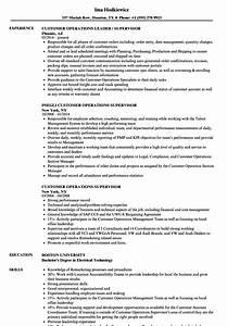 Resume Samples For Supervisor Customer Operations Supervisor Resume Samples Velvet Jobs