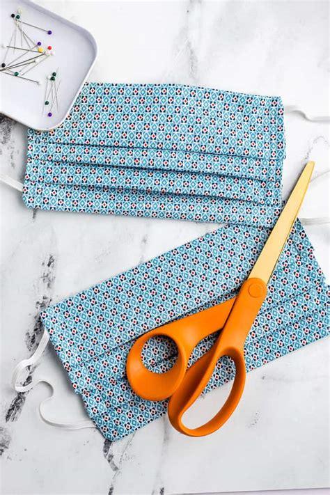 sew  diy fabric face mask  printable pattern