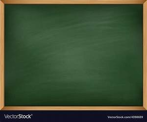 Empty green chalkboard with wooden frame Template Vector Image