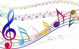 Music Notes clipart colorful music staff - Pencil and in ...