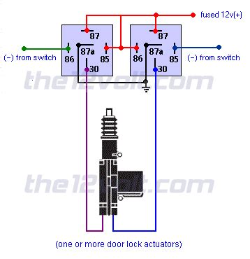 Neg Relay Switch Wiring Diagram by Door Locks Actuators Polarity Negative