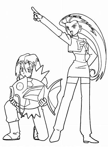 Rocket Coloring Pages Team Pokemon Pichu Space
