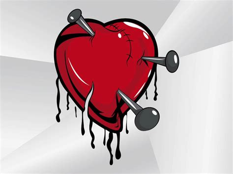 Broken Heart Cartoon Vector Art & Graphics